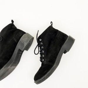 DIVIDED Black Combat Moto Boots